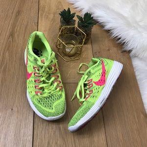 Nike Neon Green Lunarlon Sneakers
